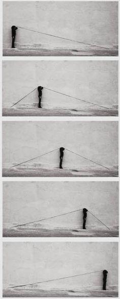 Engels Ribé: 3 punts 3, 1973. Fotografía a las sales de plata, 5 elements, 30,5 x 61 cm. Colección MACBA. Fundación MACBA. Donación Dinath de Grandi de Grijalbo.