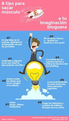 8 Tips para sacar músculo a tu imaginación bloguera  infografía de  beitapg  Sacar Músculos 927be5635467