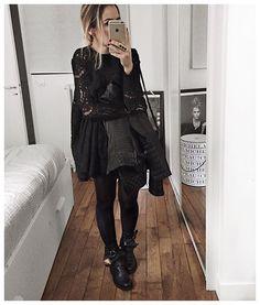 Audrey @audreylombard Tout noir (sous l...Instagram photo | Websta (Webstagram)