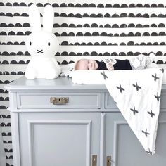 Decorate your baby nursery with our Half Moon Wallpaper - http://www.fermliving.com/webshop/shop/half-moon-wallpaper-black.aspx