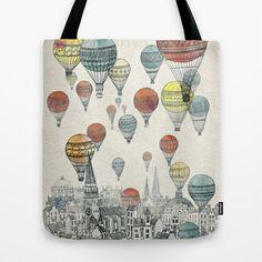 <3 Voyages over Edinburgh Tote Bag by David Fleck - $22.00