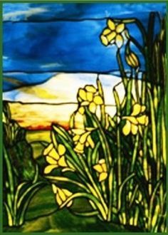 Amazon.com: Daffodils inspired by the work of Art Nouveau and Stained Glass Artist Louis Comfort Tiffany Counted Cross Stitch Chart from Watercolor: Arts, Crafts & Sewing