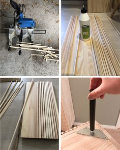 Pretty Movement - The place to be to check out inspiring IKEA Hacks. - Prettypegs - IKEA Ivar Hack with Wooden Rods Ikea Ivar Cabinet, Armoire Ikea, Ikea Cabinets, Ikea Ivar Hack, Ikea Hackers, Tie Dying Techniques, Diy Online, Furniture Legs, Wood Glue