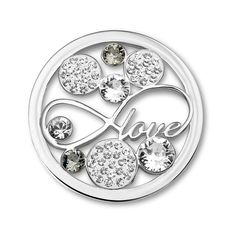 Mi Moneda Love Swarovski Crystal Coin