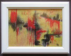 Moderne Acrylbild LAUNE original im weißen Holzrahmen monogrammiert | eBay