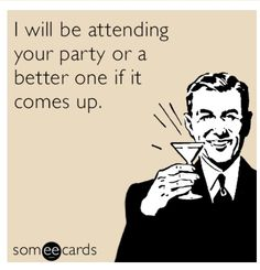 Don't be this guy! RSVP yes or no and mean it! Check out the blog for a short post discussing RSVP etiquette! by Two Brunettes and a Blog! #etiquette #wedding #RSVP #party #twobrunettes