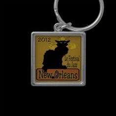 Le Chat Noir New Orleans Jazz Fest Key Chains