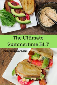 This Ultimate Summertime BLT Sandwich recipe has a corn mayo spread that will knock your socks off. The perfect bacon lettuce and tomato sandwich has a unique corn relish dressing. Add to your summer recipes. Blt Recipes, Sandwich Recipes, Healthy Recipes, Delicious Recipes, Corn Relish, Tomato Relish, Easy Summer Meals, Summer Recipes, Sandwich Spread