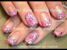 ▶ No Water Marble Technique - Flowers - YouTube