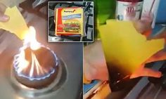 It's more like plastic than food! Bizarre experiment showing sliced cheese DOESN'T melt in a naked flame becomes online hit    http://www.dailymail.co.uk/news/article-2922332/It-s-like-plastic-food-Bizarre-experiment-showing-sliced-cheese-DOESN-T-melt-naked-flame-online-hit.html