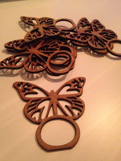 Laser cut napkin ring butterfly