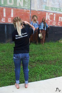 @swhit1 behind the camera rocking a Leatherandvodka tshirt at our photo shoot yesterday! #theoriginal #leatherandvodka #parttimeinvestorfulltimetrendsetter #turquoiseandco