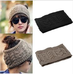 5a86be80ad6 Fashion Korean Winter Warm Women Braided Knit Hat Cap Headband Hair Bands  Alibaba Group