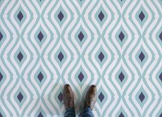 Teardrop Pattern Flooring, leading Vinyl Flooring designed and manufactured by Atrafloor. Bring any design concept to life as Flooring. Funky Kitchen, Kitchen Vinyl, Kitchen Floor, Retro Vinyl Flooring, Patterned Vinyl, Blue Color Schemes, Higher Design, Floor Patterns, Vinyl Wall Art