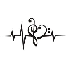 Music Note Heart - Treble & Bass Clef - Pulse - Frequency - Vector by tschitscherin, via Shutterstock Music Tattoos, Body Art Tattoos, Tatoos, Music Heart Tattoo, Dance Tattoos, Music Symbol Tattoo, Trendy Tattoos, Tattoos For Women, Cool Tattoos