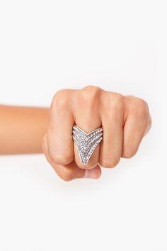 Crystal Arrow Ring