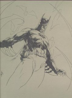 Batman pencils by Gabriele Dell'Otto. See the painted art elsewhere in this folder. #batman #gabrieledellotto