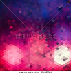 Abstract composition of hexagons  of geometric shapes.Colorful mosaic background.Geometric color  background with place for your text, text separately from the background - stock vector