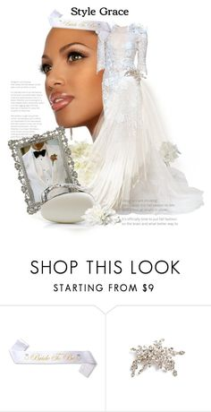 """Style The Bride To Be With Grace"" by the-house-of-kasin ❤ liked on Polyvore featuring Marchesa, Brides & Hairpins, wedding, bridal, weddings and gownsgalore"