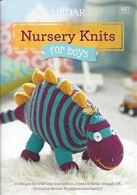 Nursery Knits for Boys - 17 designs for little boys from birth to 2 years using Sirdar Snuggly DK. Snuggly just got seriously fun in the shape of two new nursery books for babies from birth to 3 years, we have one for boys and one for the girls! Knitting Books, Crochet Books, Knit Or Crochet, Knitting Projects, Baby Knitting, Sirdar Knitting Patterns, Crochet Patterns, Nursery Book, Rowan Yarn