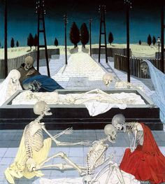 The Belgian artist and René Magritte confidant's New York exhibition is set to travel to London next month Rene Magritte, Michael Borremans, Paul Delvaux, Skeleton Art, Magic Realism, Fantastic Art, Nocturne, Surreal Art, Dark Art