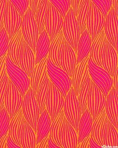 Hot Pink, Fuchsia, Sunset Orange An undulating pattern of abstract shapes creates a graceful weaving design reminiscent of feathers, leaves,. Textile Patterns, Cool Patterns, Beautiful Patterns, Print Patterns, Surface Pattern Design, Pattern Art, Rose Orange, Images Instagram, Orange Pattern