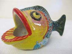 Mid Century Modern Pottery Fish Italy Pottery by BelindasStyleShop