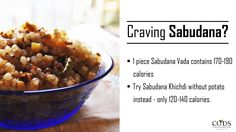 Planning to make Sabudana for an evening snack? Here's what our nutrition team suggests you do to ensure the calories stay in control!