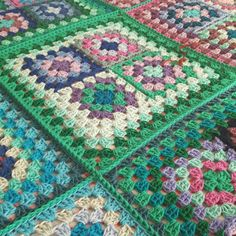 Check out this item in my Etsy shop https://www.etsy.com/uk/listing/484196319/retro-granny-squares-blues-blanket