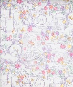 Liberty Art Fabrics - Travelling threads B