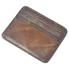 Men Genuine Leather Retro Small Coffee Brown Money Card Holders  Worldwide delivery. Original best quality product for 70% of it's real price. Hurry up, buying it is extra profitable, because we have good production sources. 1 day products dispatch from warehouse. Fast & reliable...