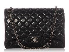 Chanel Black Maxi Classic - Ann's Fabulous Closeouts
