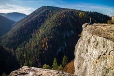 Relaxing at the top of Tomasovsky viewpoin the Slovak Paradise National Park.