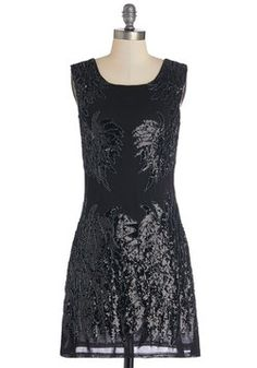 Age of Jazz Dress. Youve developed a refined palate for high art, delicate dinners, and spot-on style! #black #modcloth