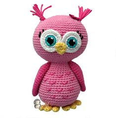 Cute Crochet Patterns Amigurumi Pink owl free crochet pattern - This crochet pattern for a pink amigurumi owl is absolutely free! This cute owl make the perfect gift for that little girl or boy and is completely ready for snuggles! Owl Crochet Patterns, Crochet Birds, Owl Patterns, Amigurumi Patterns, Amigurumi Doll, Free Crochet, Crochet Animals, Crochet Hearts, Crocheted Flowers