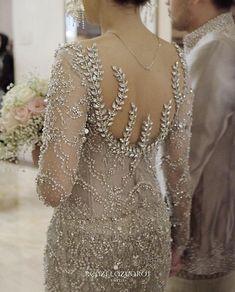Ideas embroidery designs baby inspiration for 2019 Kebaya Lace, Kebaya Hijab, Kebaya Brokat, Batik Kebaya, Kebaya Dress, Embroidery Fashion, Embroidery Dress, Model Kebaya Modern, Kebaya Wedding