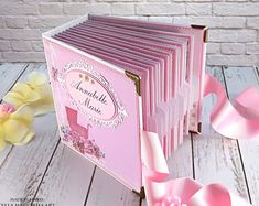 Custom Baby Girl Scrapbook Premade First Year Baby Book First Year Baby Book, Cube Template, Baby Keepsake Book, Baby Girl Scrapbook, Baby Girl Photos, Paper Crafts Origami, Baby Blog, Diy Crafts For Gifts, Baby Girl Gifts