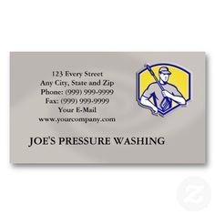 16 best pressure washing business cards images on pinterest power washing pressure water blaster worker business card cheaphphosting Gallery