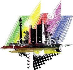 city silhouette 03 vector