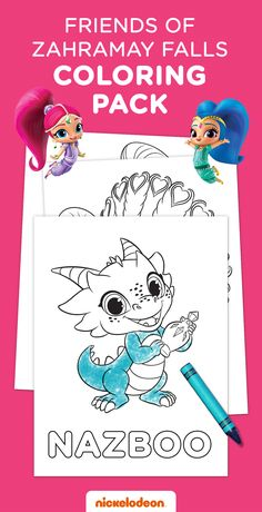 Grab some crayons and let your Shimmer and Shine fan spend even more time with their new genie friends with this printable coloring page.