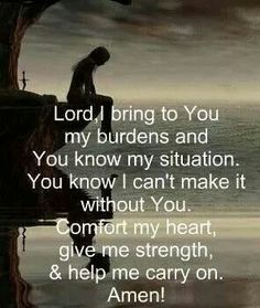 God knows our anxious heart - lay your cares at the foot of His cross