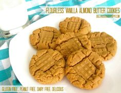 Dollhouse Bake Shoppe: Flourless Vanilla Almond Butter Cookies: gluten ...