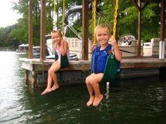 Swings on the dock