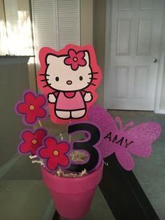 Hello Kitty centro de mesa por rainbowparty13 en Etsy