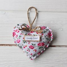 Personalised Sister Vintage Style Heart Gift | justalittlethought.co.uk Vintage Style, Vintage Fashion, Personalised Gifts, Sisters, Christmas Ornaments, Holiday Decor, Heart, Personalized Gifts, Fashion Vintage