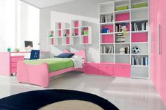 Young girls modern bedroom