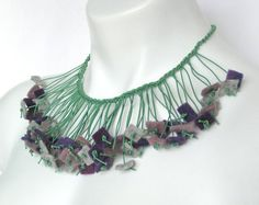 How about as a trim?  lavender felt necklace fall fashion fringe jewelry by frankideas, $45.00