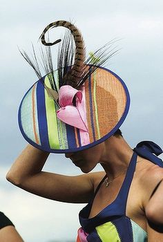A feather in the cap for Danielle Williams, who won the millinery section of the Fashions on the Field on Oaks Day in 2005. #passion4hats