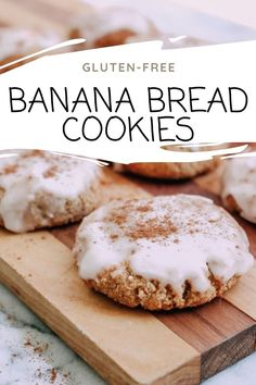 Super soft and delicious Gluten-Free Banana Bread Cookies. If you're a fan of banana bread, you'll just LOVE these cookies as much as we do! Really easy to put together. These cookies are gluten-free, grain-free and totally dairy-free. Best thing is the dough comes together without a mixer! #savoringitaly #glutenfreecookies #glutenfree #banana #bananadessertrecipe #bananacookies #bananabread Banana Bread Cookies, Gluten Free Banana Bread, Grain Free, Dairy Free, Banana Dessert Recipes, Gluten Free Cookies, Camembert Cheese, Awesome Desserts, Glutenfree