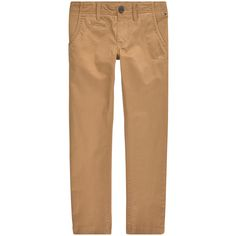 Cotton gabardine Chino pants Regular fit: straight leg fit Piped back pockets Adjustable waistband with an inner buttoned elastic strap  Zip fly Branded button on the waist Logo patch at the back - 16 £ 60
